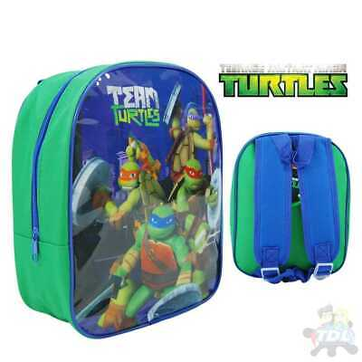 Childrens Teenage Mutant Ninja Turtle Backpack Rucksack School Travel Bag 1029HV ()