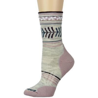 SmartWool Womens PhD Outdoor Gray Wool Pattern Breathable Crew Socks S BHFO 8652
