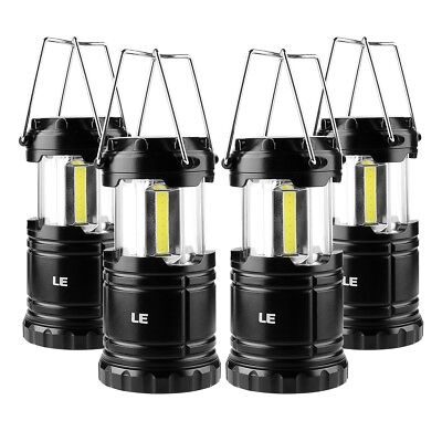 4 Portable Collapsible LED Lanterns Battery Powered Camping Lamp Hiking Fishing