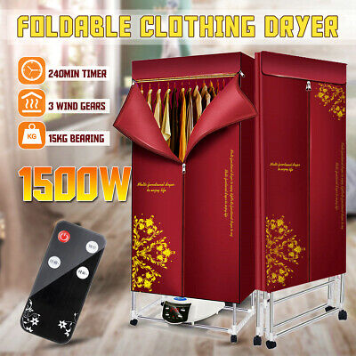 1500W Foldable Electric Clothes Dryer Drying Heater Machine with Remote Control for sale  Shipping to Nigeria