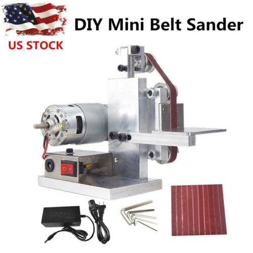 110V DIY Mini Belt Sander Knife Apex Edge Sharpener Polishin