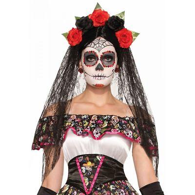 Day Of Dead Womens Costume (Day Of The Dead Dia De Los Muertos Costume Veil | FORUM NOVELTIES)