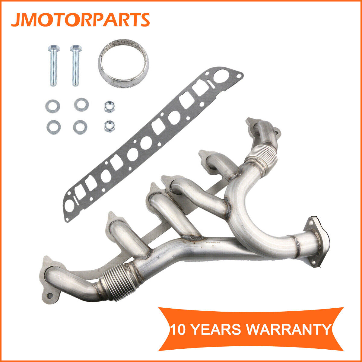 Exhaust Manifold+ Gasket Fits Jeep Wrangler Grand Cherokee 4.0L Stainless Steel