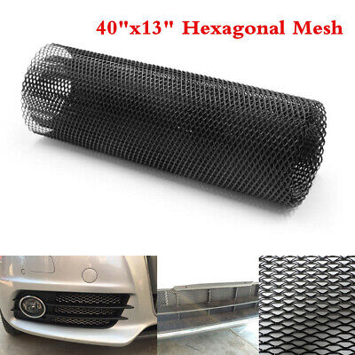 Universal 40x13'' Black Aluminum Car Vehicle Body Grille Mesh Section Grill Net