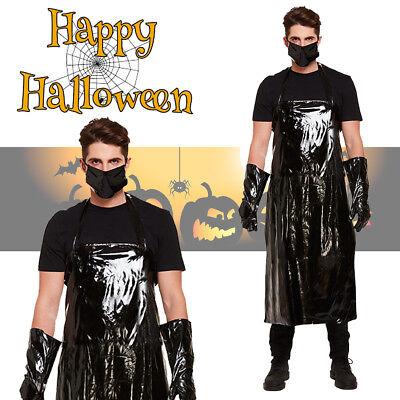 Men's Scary Butcher Evil Halloween Fancy Dress Horror Costume Party - Evil Butcher Halloween Costume