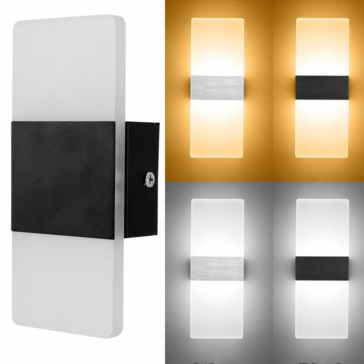 Modern LED Wall Light Up Down Indoor Outdoor Lighting Lamp S