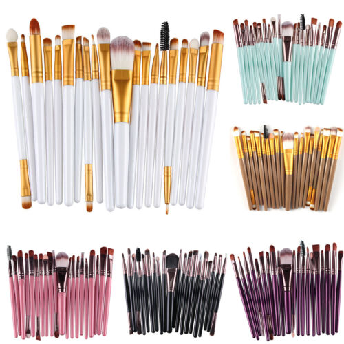 20PCS Professionelle Schminkpinsel Pinselset Kosmetik Make Up Bürste Pinsel Set