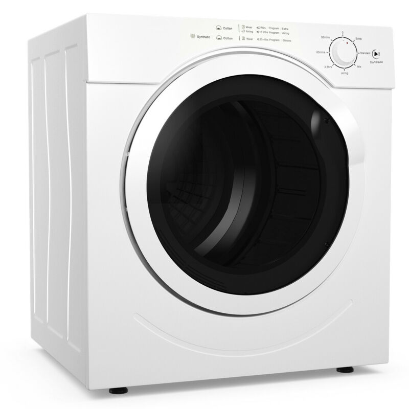 Costway 13lbs Electric Tumble Compact Laundry Dryer Stainless Steel 3.0 Cu.Ft