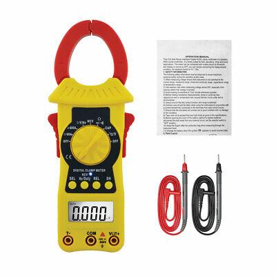 Digital Clamp Meter Ac Dc Current Auto Range 3999 Counts True Rms Handheld Tool