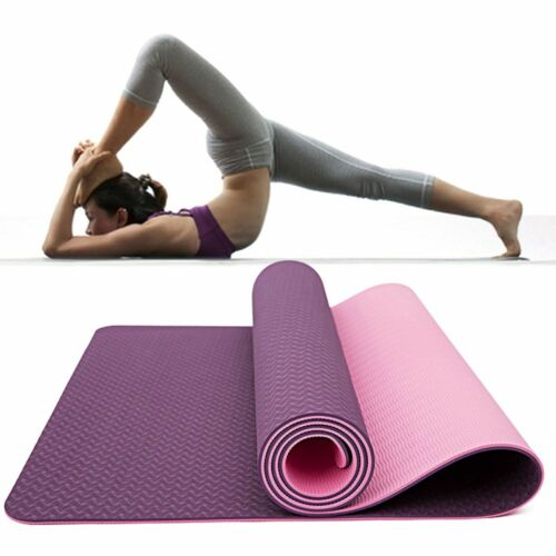 """72"""" Thick Yoga Mat Gym Camping Non-Slip Fitness Exercise Pilates Meditation Pad 9"""