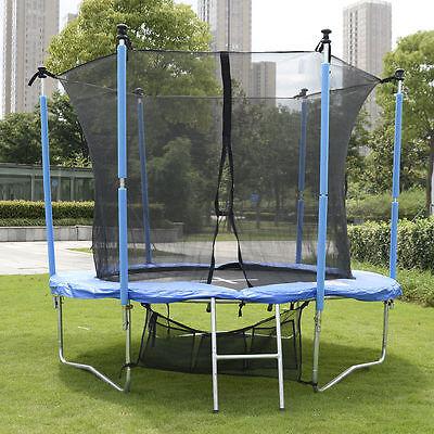 Trampolin Gartentrampolin Komplettset mit Netz,Leiter, Schuhetache,Feder