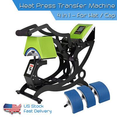 4 In 1 Heat Press Machine Digital Transfer Sublimation Plate Hat Cap Industrial