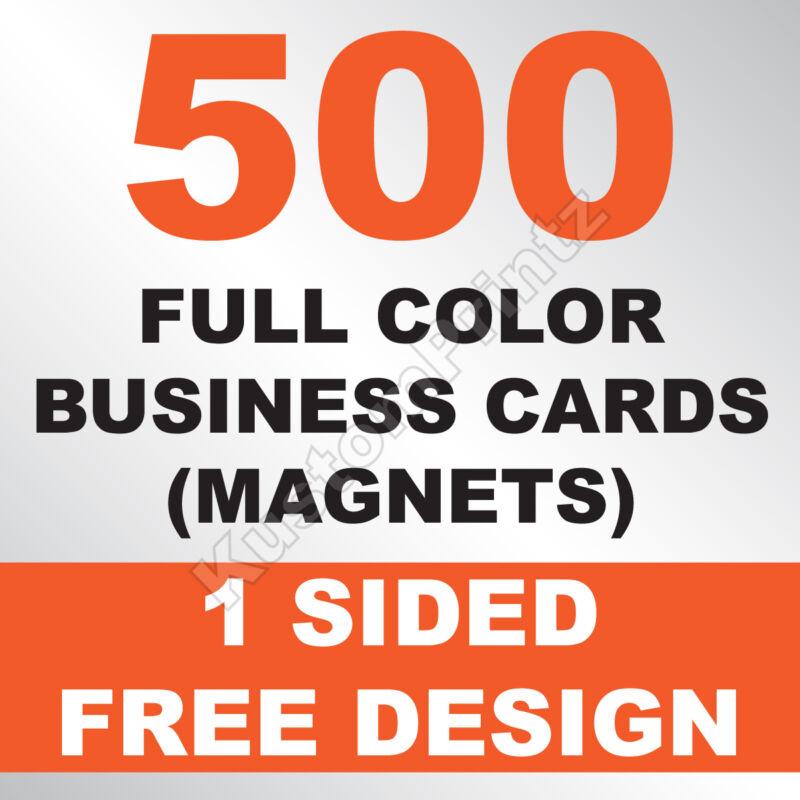 500 CUSTOM FULL COLOR BUSINESS CARD MAGNETS | GLOSSY UV FINISH | FREE DESIGN