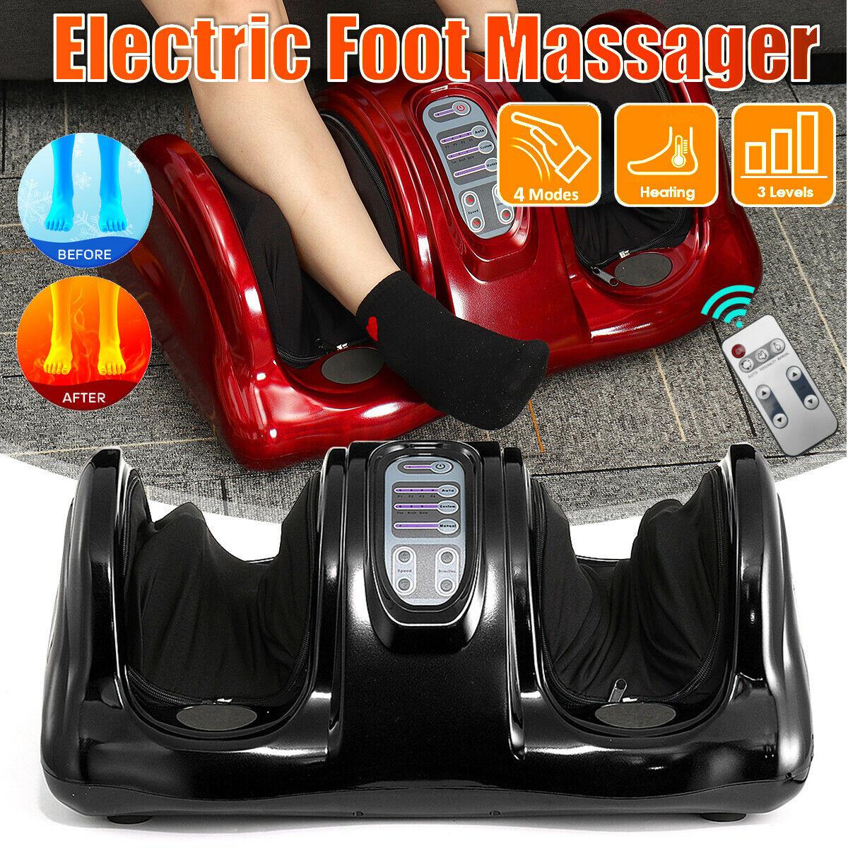 Shiatsu Bein Fussmassagegerät Wärmefunktion Elektrisch Fuß Reflexzonen Massage