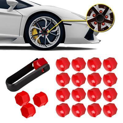 20x Red Wheel Lug Bolt Center Nut Cover Cap 321601173A for Audi VW Jetta Golf