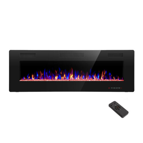 """42"""" Electric Fireplace, Recessed Wall Mounted and in-Wall Fireplace Heater"""