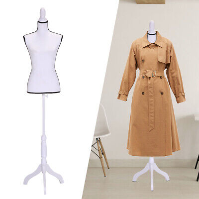 Female Mannequin Torso Dress Clothing Form Display Wtripod Stand White New