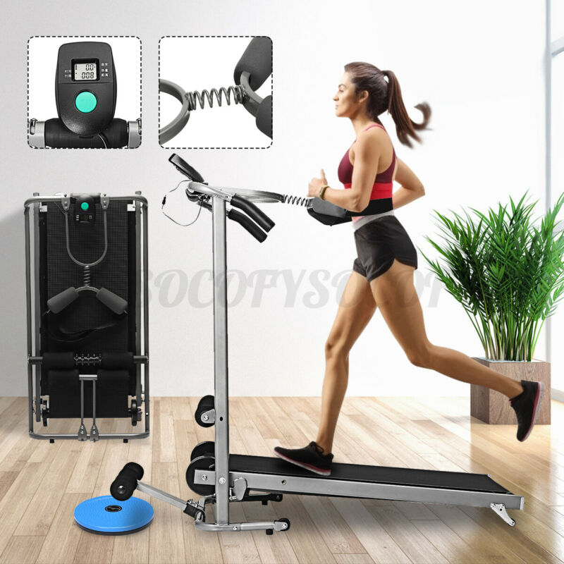 Fitness Treadmill Walking Running Jogging Twisting Exercise Motorized Gym Home
