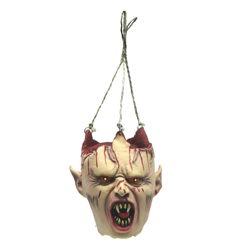 Bloody Hang Vampire Head Scary Halloween Decor Indoor Outdoor Haunted House Prop