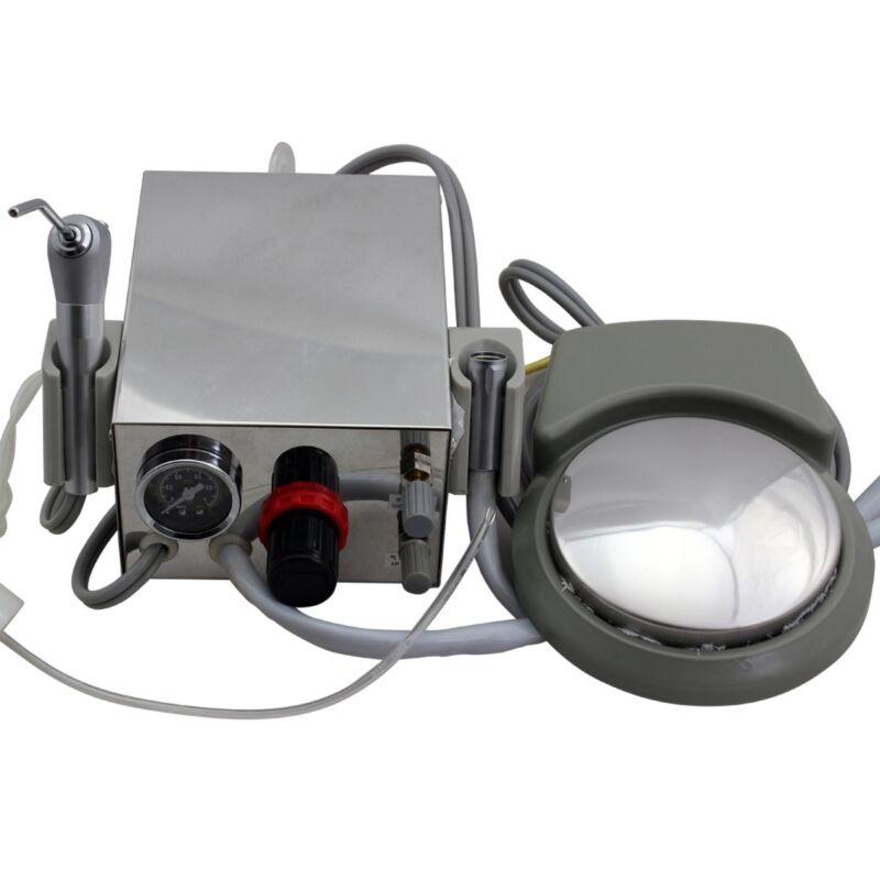 Portable Dental Turbine Unit Work W/ Air Compressor with Triplex Syringe 2 Hole