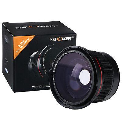 58MM 0.35x FULL HD Fischaugen Weitwinkel objektive Makro Wide Angle Fisheye Lens