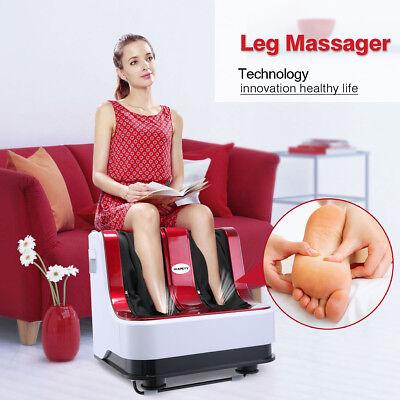 Red Shiatsu Kneading Rolling Vibration Heating Foot Spa Calf Ankle Leg Massager