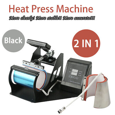 Portable Transfer Sublimation Cup Coffee Mug Heat Press Machine Digital Printing
