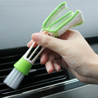 Double Ended Car Vent Air Conditioner Cleaning Brush Blinds Cleaner Dusting Tool