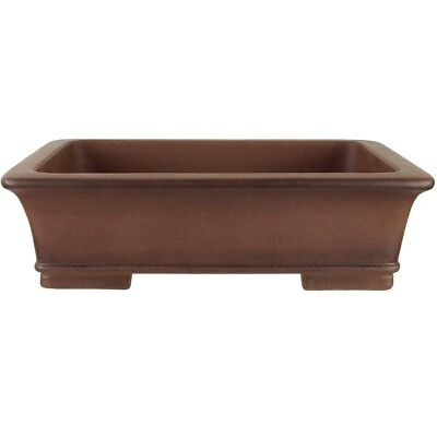 Bonsai pot 39.5x28x11.5cm antique brown rectangular unglaced H40162AB