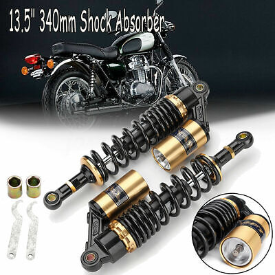340mm Rear Air Shock Absorbers Gas Suspension For Kawasaki Honda ATV Black&Gold