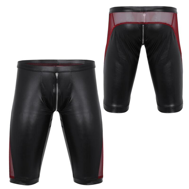 Herren Boxer Shorts Briefs Bikinihose mit Reißverschluss Unterwäsche Badehose