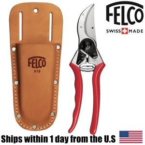 Felco 2 Classic Pruner Swiss Made Shear and Felco 919 Pruner Holder Pouch Kit
