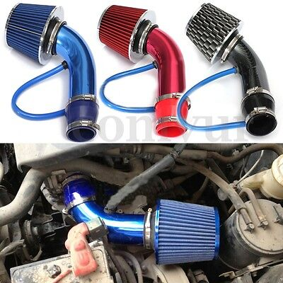 "2.5""-3.0"" Universal Cold Air Intake Induction Hose Pipe Kit System & Filter UK"