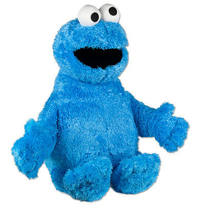 "Sesame Street  Cookie Monster 10 "" Inch Plush Stuffed Toy New Good Buddy"