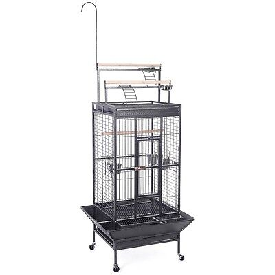 NEW Parrot Bird Pet Cage Macaw African Grey Cage Cockatiel House Stand Lock BL