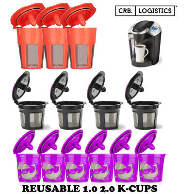 (Refillable Reusable K-Cup K Carafe Coffee Filter Pod Fits Keurig 2.0 1.0 Coffee)