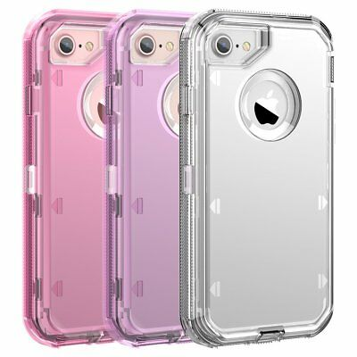 Fit Apple iPhone Clear Transparent Shockproof Protective Armor Heavy Duty Case