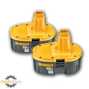 2 x genuine dewalt dc9096 18v 2 4ah ni cd xrp batteries de9096 twin pack ebay. Black Bedroom Furniture Sets. Home Design Ideas