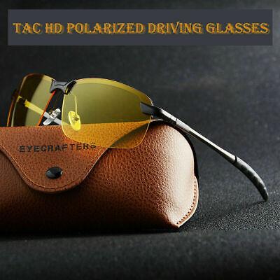 Tac HD+ Polarized Day Night Vision glasses Men Driving Pilot Aviator (Tac Sunglasses)