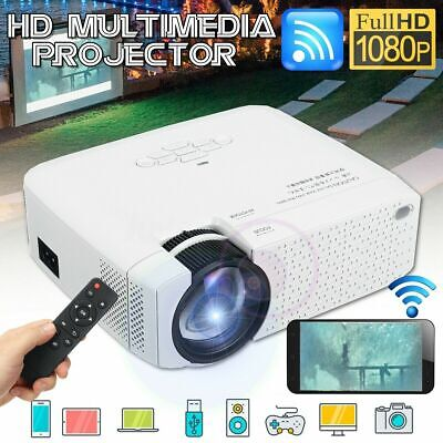 Full HD 1080P 3D LED Wifi Video Projector Mini Portable Smart Home Cinema SD USB