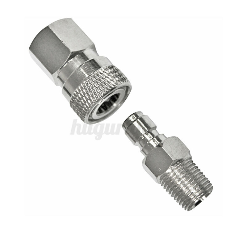 Paintball PCP 8mm Quick Release Disconnect Coupler 1/8NPT Fitting Male &