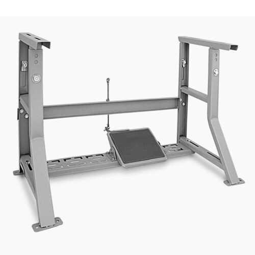 K Leg Table Assembly (metal leg frame,Foot Pedal,Treadle & Rubber Leg Cushion)