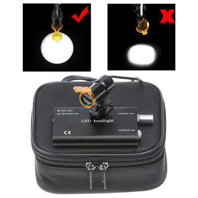 5w Dental Led Surgical Headlight Lamp With Filter Insert Clip For Dental Loupes