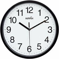 Decorative Universal Indoor/Outdoor Classic Clock 10, Black  Analog Wall Clock