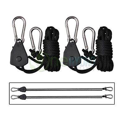 (Rope Rachet Heavy Duty Light Hangers Pro Grip Grow Light Reflector Filter Fan )