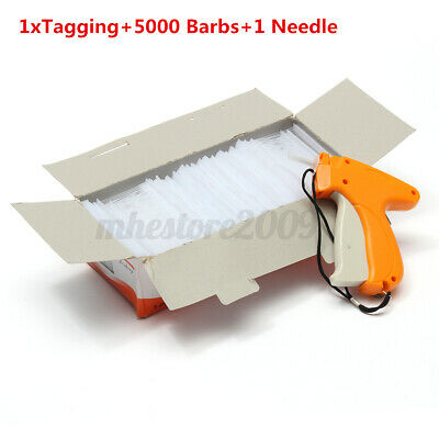 Clothing Garment Sock Price Label Tag Tagging Gun System W 5000 Barbs 1 Needle