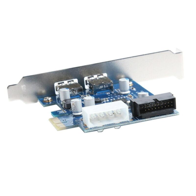 USB 3.0 PCI-E Controller Card 2 External Port w/ Internal 19 Pin Connection