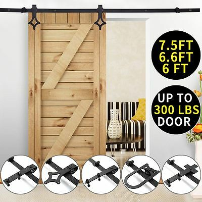 Wall Mount Track (Black Carbon Steel Sliding Barn Door Hardware Track Rail Kit Wall)