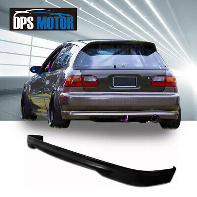 TR PU Rear Bumper LIp Spoiler Body kit For 92-95 Honda Civic EG 3D Hatchback Civic Hatchback Body Kits