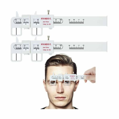 2 Pieces Measure Optical Vernier PD Ruler Pupil Distance Meter Eye Ophthalmic...